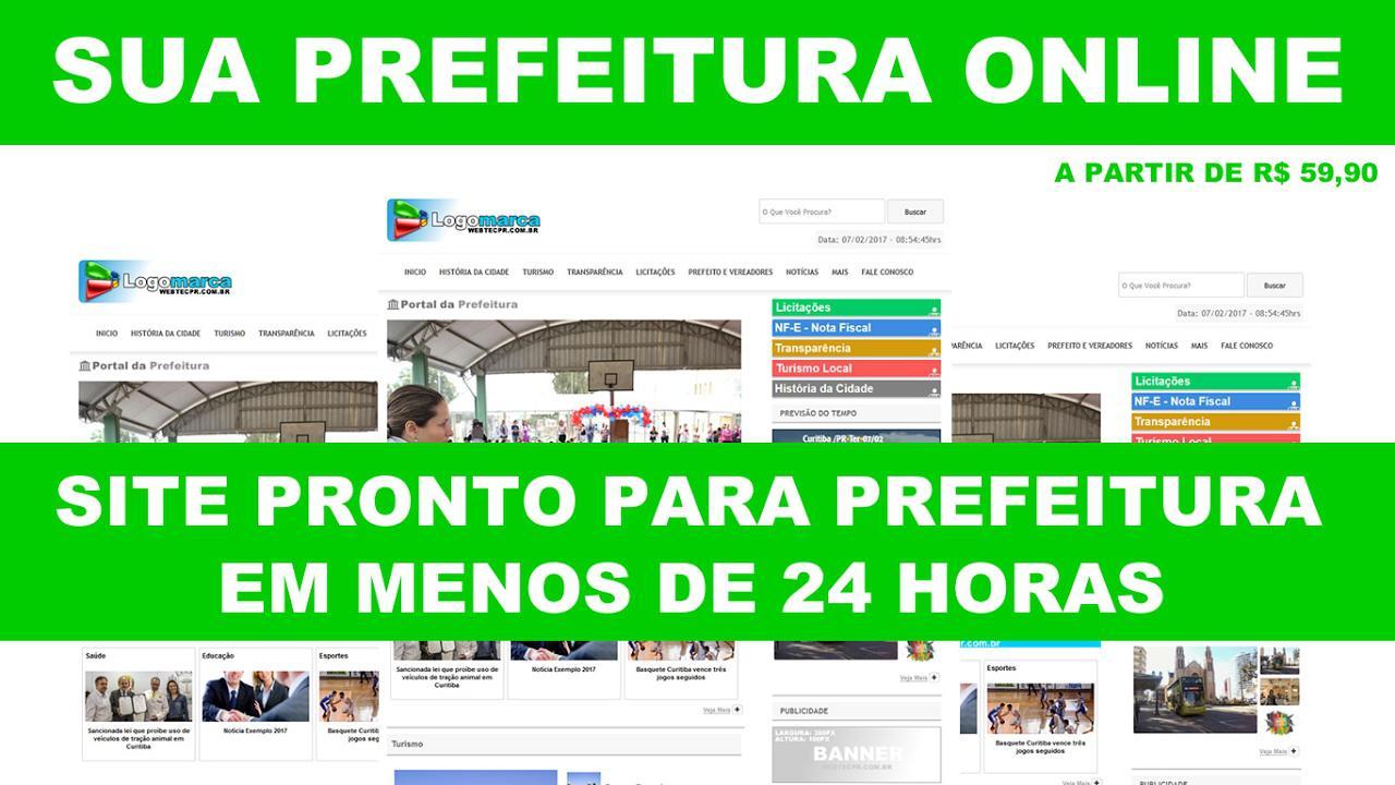 Sites prontos para prefeituras  e câmaras
